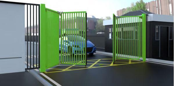 Bi folding opening green gate